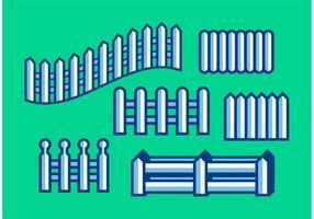 Vecteurs de clôtures minimalistes