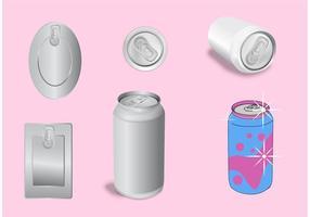 Vecteurs de modèles de soda Can vecteur