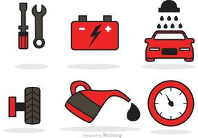 Vector d'icônes de service de voiture