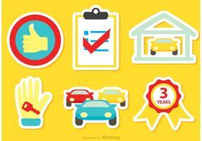 Vecteur d'icônes de concessionnaire de voiture