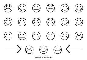 Icônes variées de visage souriant