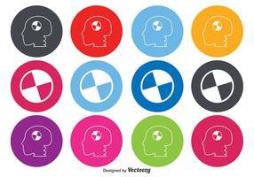 Crash test icônes symboles fausses