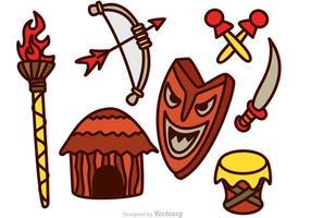 Vecteurs d'icônes Tiki vecteur