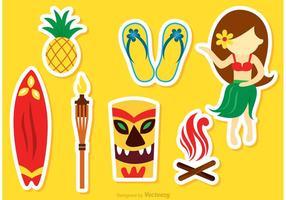 Vecteurs d'icônes d'Hawaii vecteur