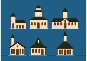 Vecteurs d'église de pays vecteur