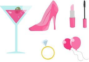 Vecteurs roses de bachelorette party vecteur