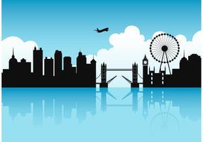 Vecteur de paysage urbain de Londres gratuit