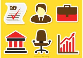 Vecteurs d'icônes d'affaires
