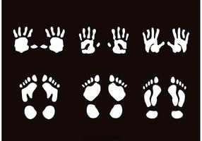 Child Handprint And Footprint Vecteurs