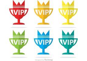 Vip trophy icônes vecteur paquet