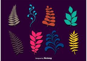 Branches de feuilles vectorielles vecteur