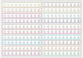 Vecteurs de travail de mathématiques