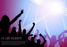 Affiche de vecteur de vie de club de musique gratuit de musique de nuit