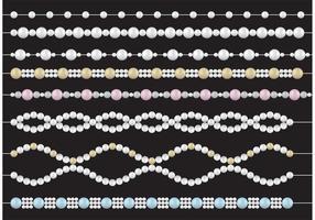 Vecteurs de collier de perles vecteur