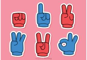 Vecteurs de mousse à doigts