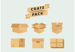 Caisse d'entreposage vecteur d'emballage gratuit