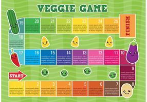 Modèle de vecteur de jeu végétarien