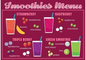 Vecteur menu smoothie