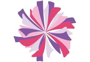 Vector Pink Pom Pom isolé