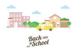 Vecteur de retour à l'école