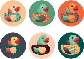 Des vecteurs de canard en caoutchouc mignons