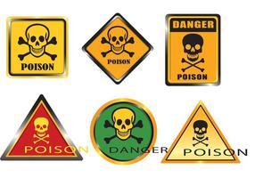 Vecteurs de signes de poison vecteur