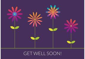 Gratuit Get Well Soon Vector Card