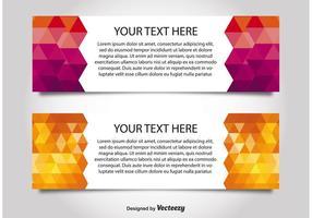 Modèles de bannières Web style moderne