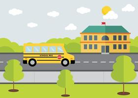 Vector de conception de bus scolaire gratuit