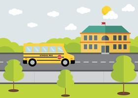 Vector de conception de bus scolaire gratuit
