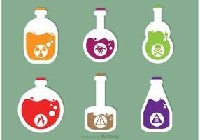 Icônes vecteur poison