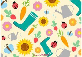 Contexte vectoriel de printemps et d'été