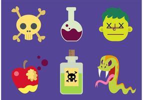 Vecteurs de poison de dessin animé