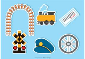 Icônes de train vectoriel