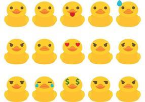 Vecteurs d'émoticônes en canard en caoutchouc