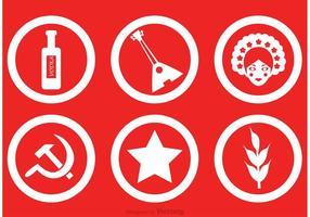 Icônes vectorielles russes vecteur