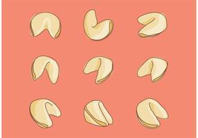 Vecteurs de biscuits Fortune dessinés à la main vecteur