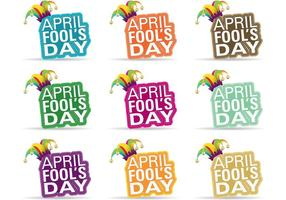 Les vecteurs d'insignes d'April Fools