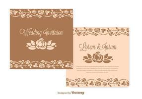 Ensemble de mariage d'invitation de mariage vecteur