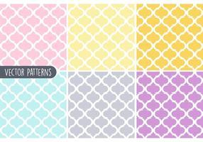 Ensemble de motifs vectoriels géométriques en pastel vecteur