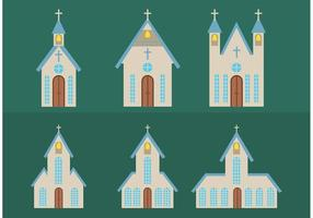 Vecteurs d'église de pays simples vecteur