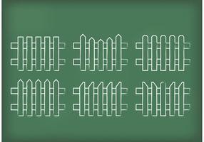 Vecteurs de clôtures de piquets dessinés vecteur