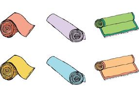 Série de vecteur de rouleau de tapis gratuit