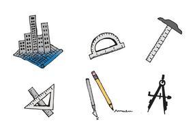 Outils d'architecture gratuits série de vecteurs