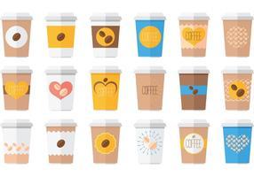 Paquet vectoriel de boissons au café glacé