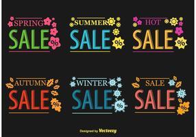 Signes vectoriels saisonniers à la vente chaude vecteur