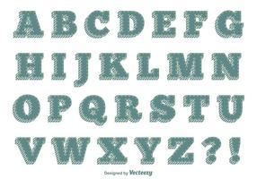 Alphabet style rétro vecteur