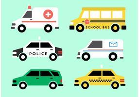 Vecteurs de véhicules publics vecteur