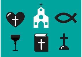 Vecteurs de symboles chrétiens