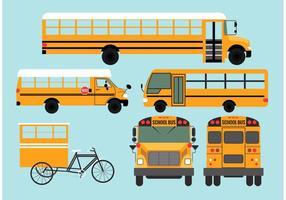 Vecteurs de bus scolaire vecteur